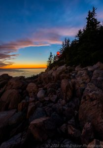 Acadia National Park Sunset photographed by Scott Erskine
